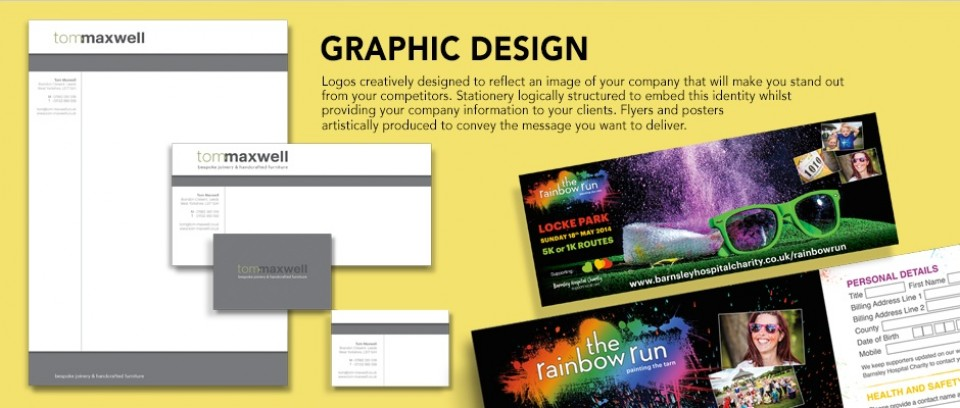 Graphic Design, Leeds, Posters, Leaflets, Logos, Stationery, marketing, identity