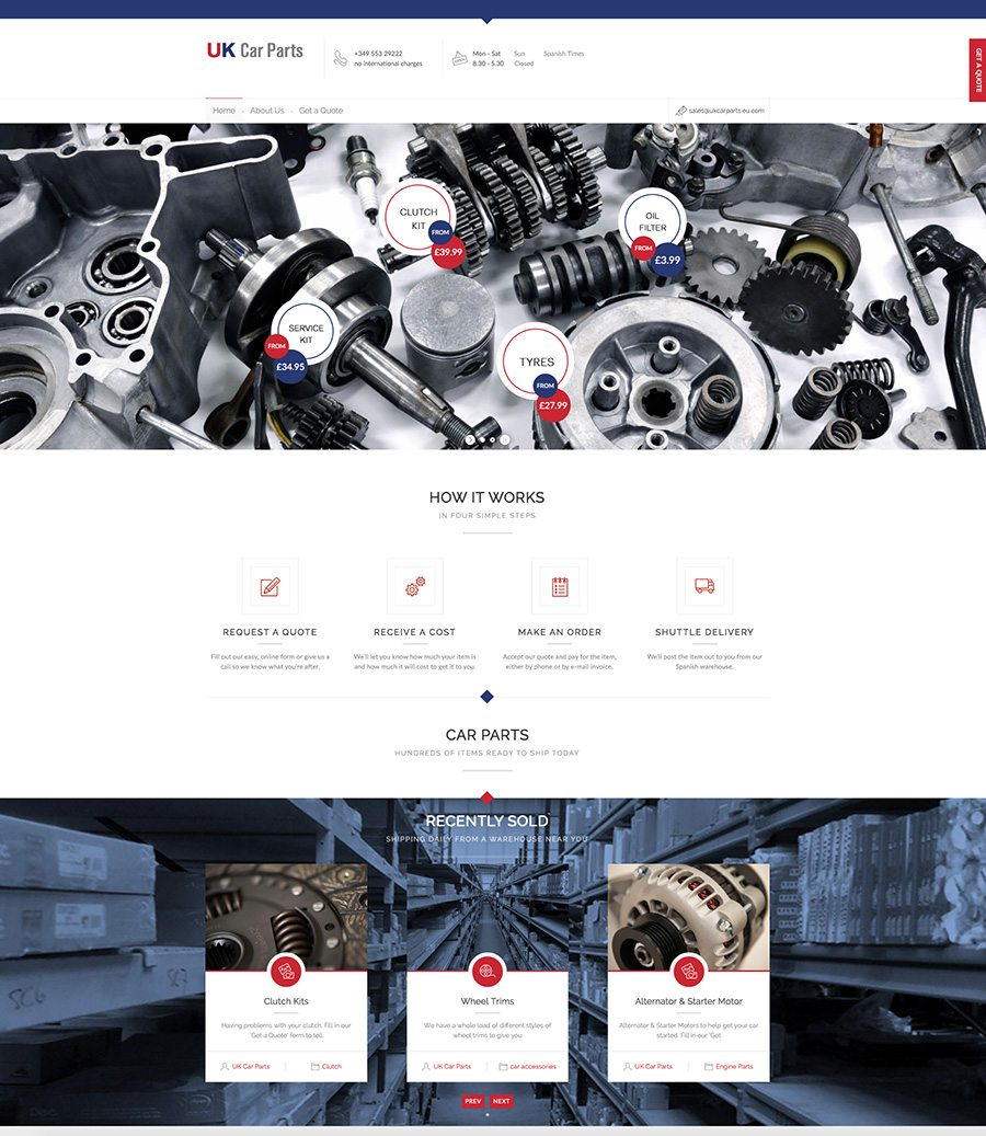 UK Car Parts Website