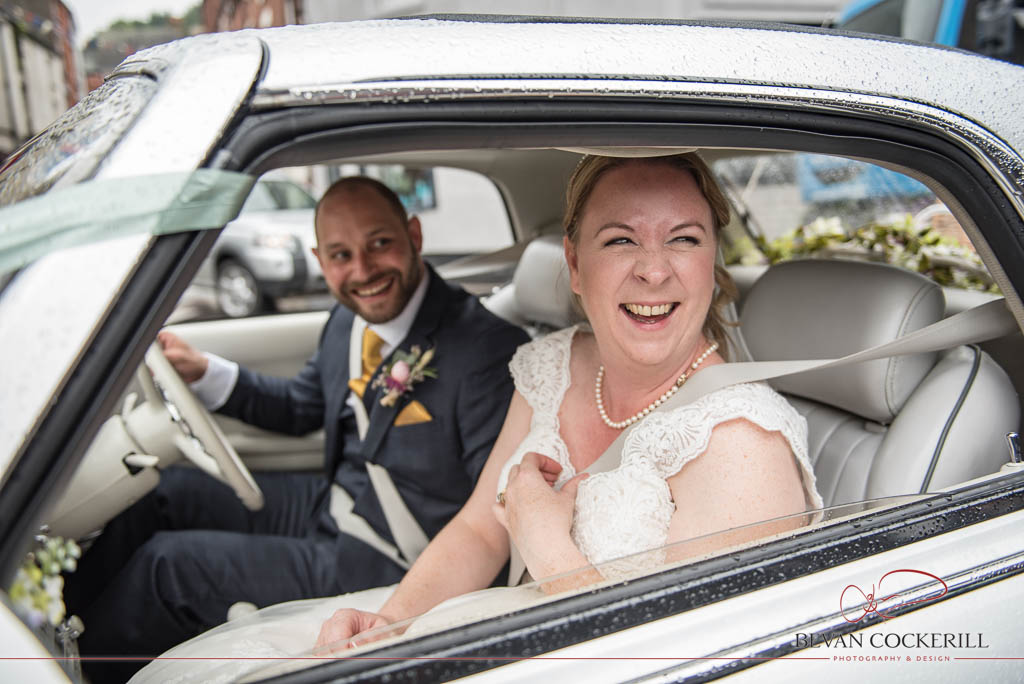 Claire and Alan, Wedding Photography, Bevan Cockerill, Wedding Car, Stoke-on-Trent, The Ashes Barns, St Giles' Catholic Church, Cheadle