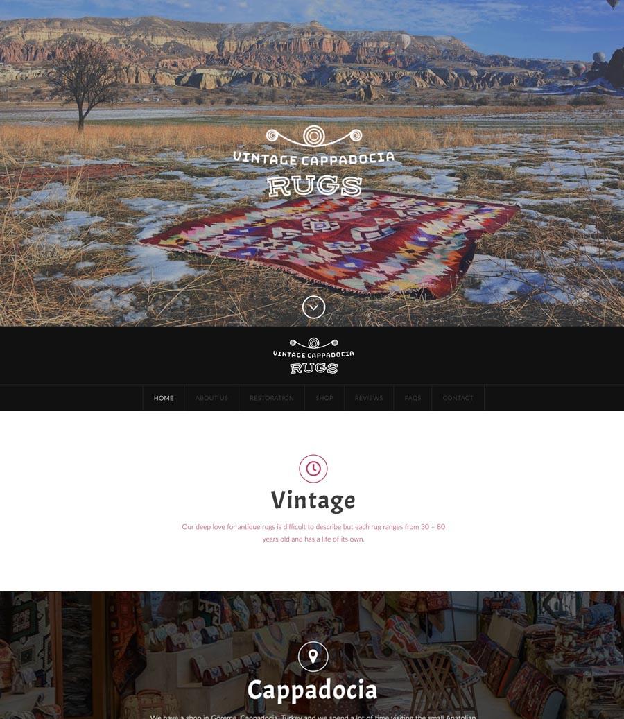 Vintage Cappadocia Rugs Website